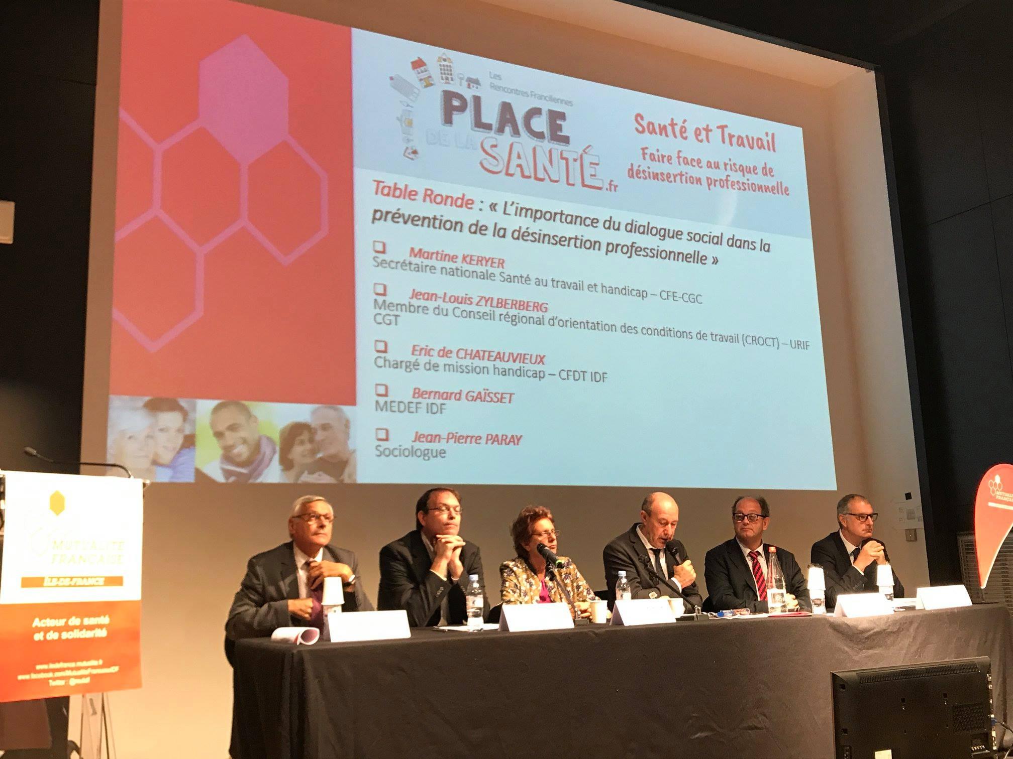 Jean Pierre Paray est intervenu devant plus de 100 personnes à la Mutualité Francaise sur la Santé au Travail