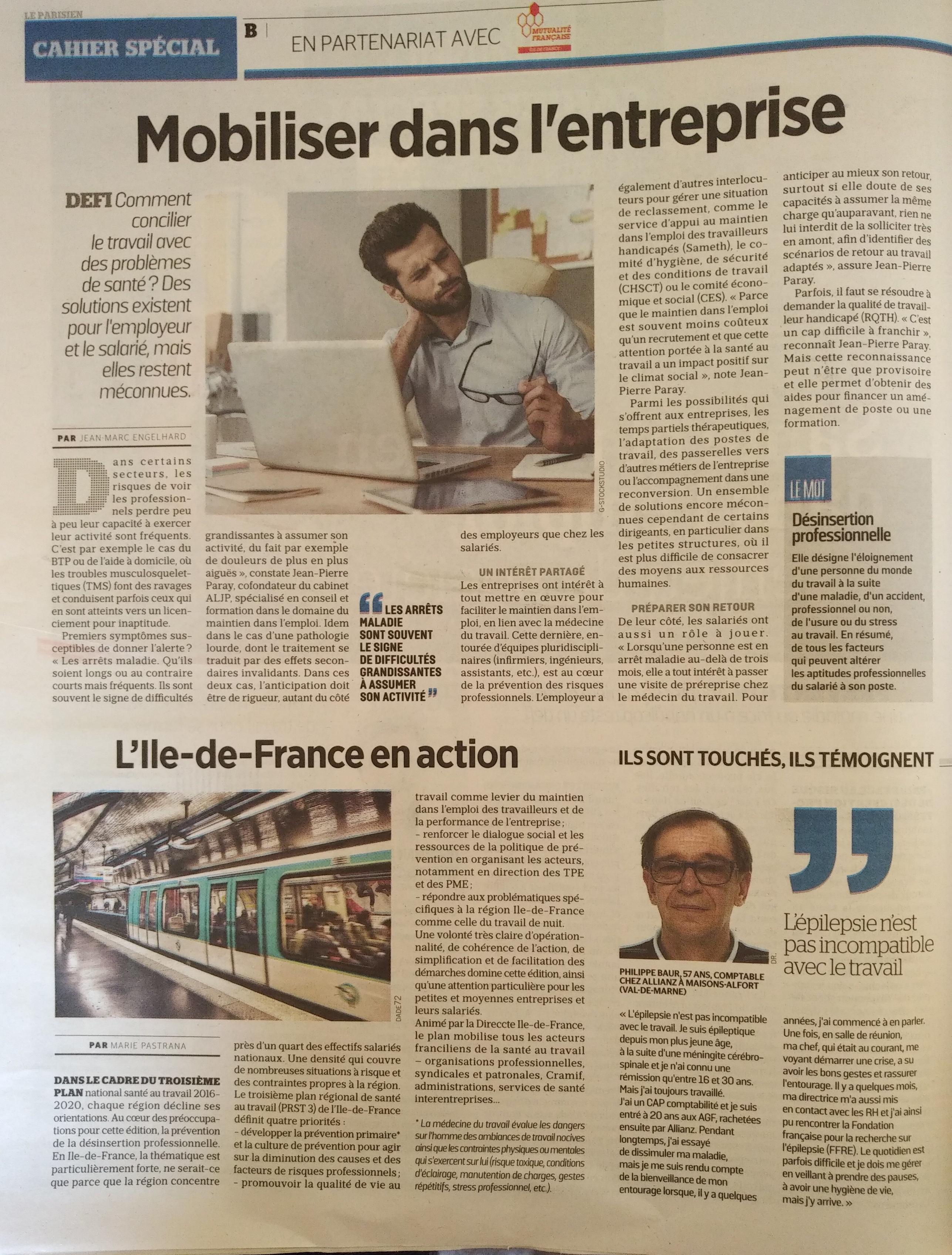 Le Parisien Carnet Spécial Mobiliser dans l entreprise