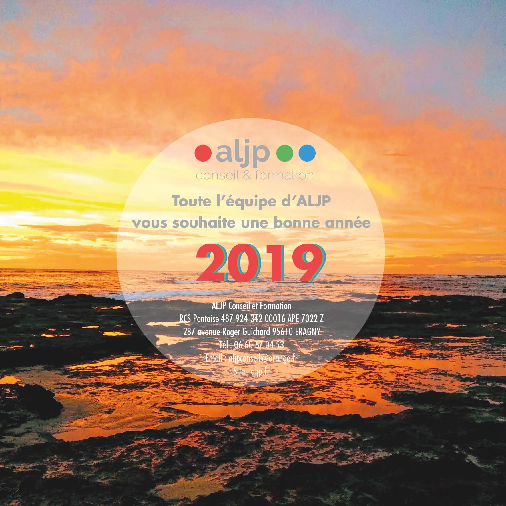 ALJP vous souhaite une bonne année 2019